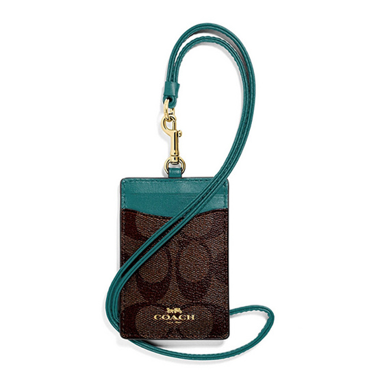 COACH F63274 ID LANYARD IN SIGNATURE COATED CANVAS (IMNQY) [MCF63274IMNQY]