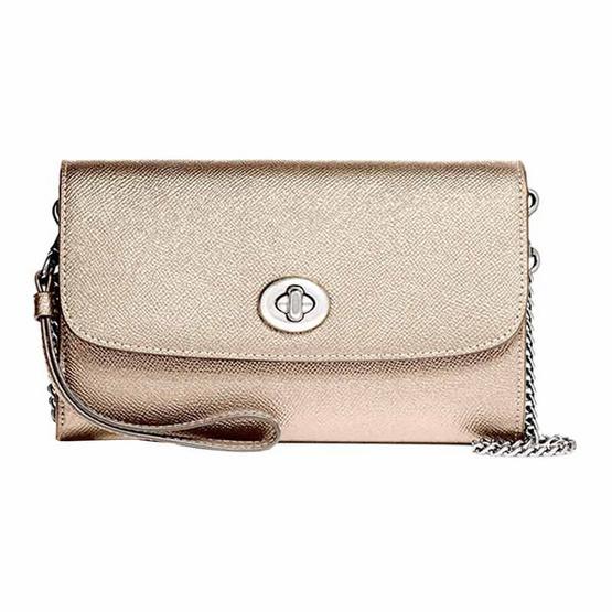 กระเป๋า COACH F22828 CHAIN CROSSBODY (SVPL) [MCF22828SVPL]
