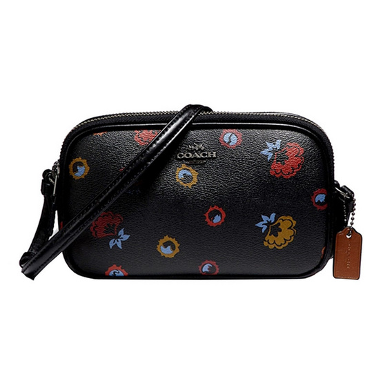 กระเป๋า COACH F23643 CROSSBODY POUCH WITH PRIMROSE PRINT (QBM2) [MCF23643QBM2]