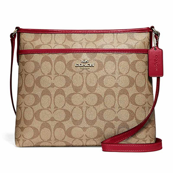 กระเป๋า COACH F29210 FILE CROSSBODY IN SIGNATURE CANVAS (IMD0B) [MCF29210IMD0B]