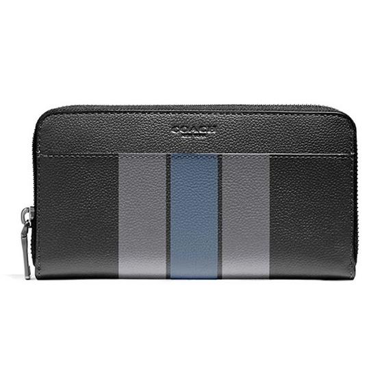 กระเป๋าสตางค์ COACH F58109 ACCORDION WALLET IN VARSITY LEATHER (MFZ) [MCF58109MFZ]