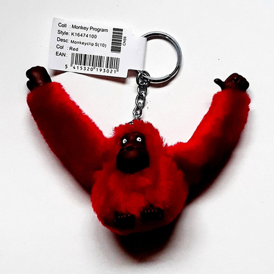 พวงกุญแจ Kipling Monkeyclip S(10) - Red [MCK16474100]