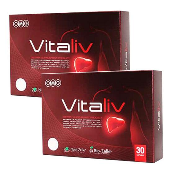 OMG Vitaliv ผลิตภัณฑ์เสริมอาหารดูแลตับ 30 แคปซูล แพ็ค 2