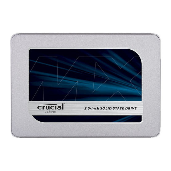 """Crucial SSD MX500 SATA 7mm (with 9.5mm adapter) Internal 2.5"""" 1 TB"""