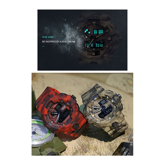 Smael นาฬิกาข้อมือผู้ชาย กันน้ำ100% Sport Digital Multiple Display รุ่น SM8001