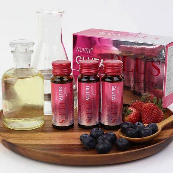 Nuvite Gluta Plus Collagen Peptide (กล่องบรรจุ 10 ขวด)