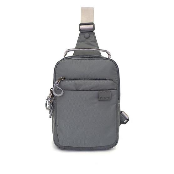 FOUVOR กระเป๋าคาดอก รุ่น 2802-24 (สีเทา)