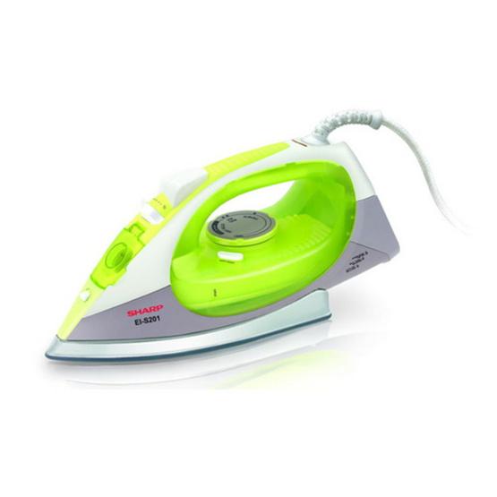 Sharp เตารีดไอน้ำ กำลังไฟ2000w รุ่น EI-S201 (สีเขียว)