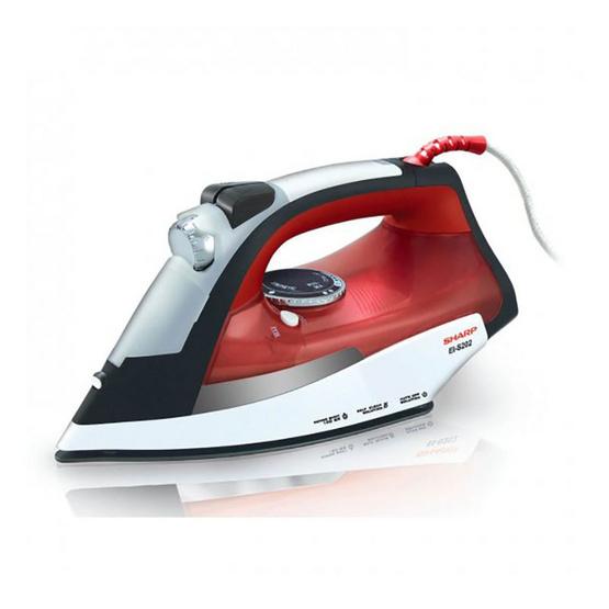 Sharp เตารีดไอน้ำ กำลังไฟ2000w รุ่น EI-S202 (สีแดง)