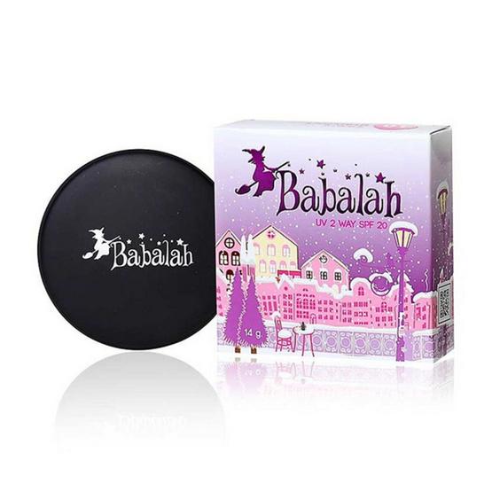 บาบาร่า แป้งเค้ก แป้งพัฟทูเวย์ SPF20++ 14 กรัม No.02 ฟรี ดินสอเขียนคิ้ว บาบาลา สีดำ