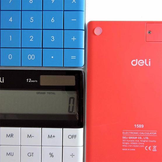 Deli 1589 เครื่องคิดเลขแฟนซี 12 หลัก