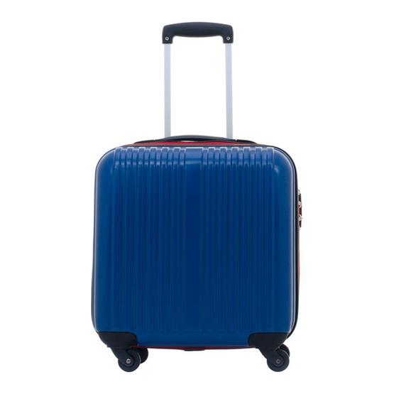 Giogracia Polo Club: กระเป๋าเดินทาง รุ่นคอมแพค 25337 ขนาด 17 นิ้ว สีน้ำเงิน