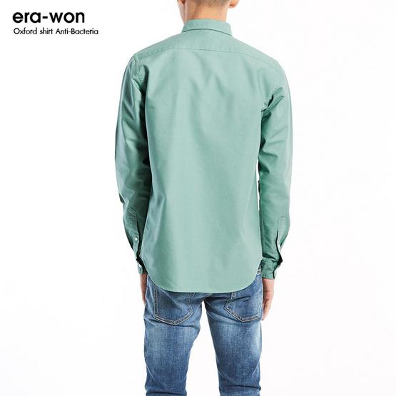 ERA-WON Oxford Shirt Anti-Bacteria สี Marijuana