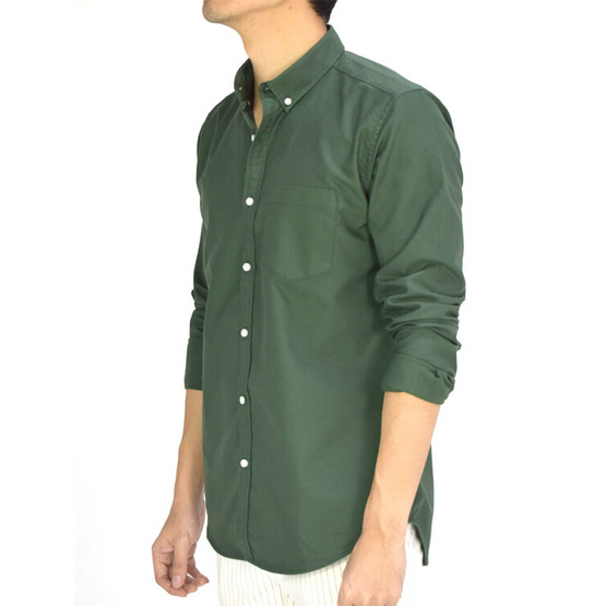 ERA-WON Oxford Shirt Anti-Bacteria สี Weeds