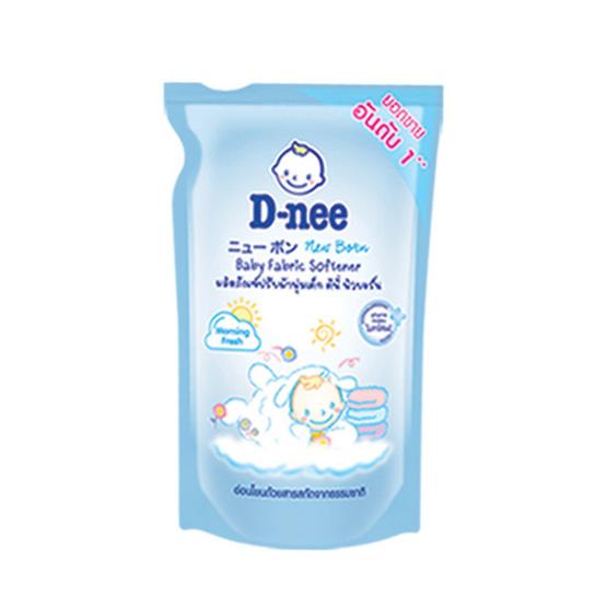 ดีนี่ นิวบอร์น น้ำยาปรับผ้านุ่มเด็ก กลิ่นมอนิ่ง เฟรช สีฟ้า 600 มล. ถุงเติม