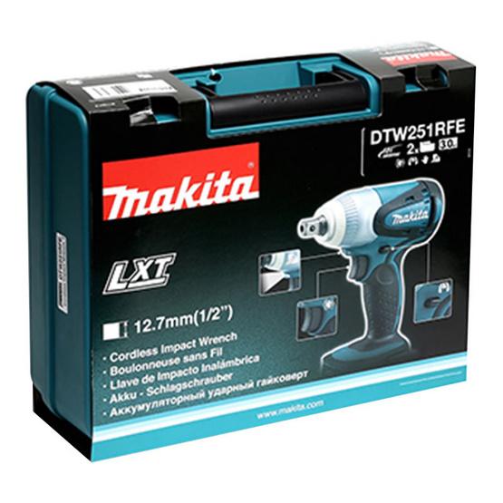"Makita บล๊อกไร้สาย 1/2"" (230N.M) 18V รุ่น DTW-251RFE"