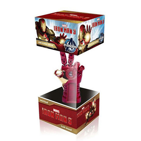 Info Think Marvel Flash Drive Iron Man Right Hand Guantlet 8GB