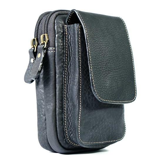 MOONLIGHT กระเป๋าใส่โทรศัพท์มือถือ หนังแท้ รุ่น Belta I คาดกับเข็มขัด ใส่ iPhone, Samsung ขนาดใหญ่ได้