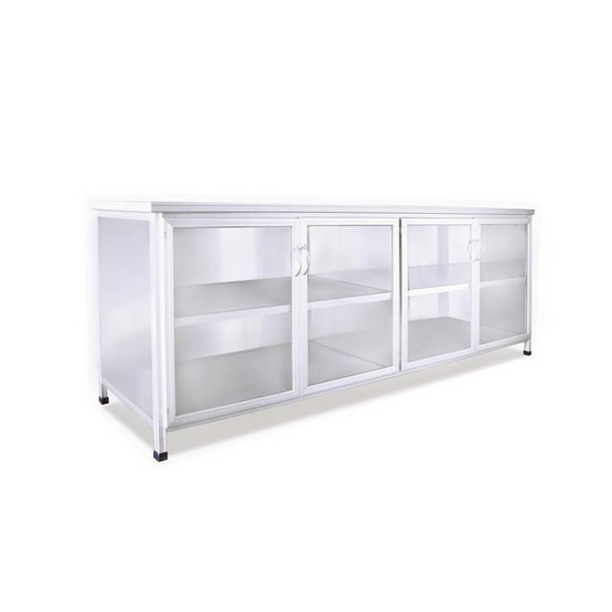 SANKI ตู้ครัวโครงเหล็กสีขาว 2 เมตร SMC-W 200