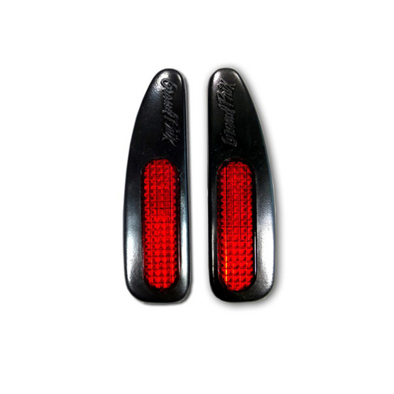 LEOMAX กันกระแทกประตูรถยนต์ รุ่น DG-11 ยางสีดำ พร้อมทับทิมสะท้อนแสงสีแดง ชุด 2 ชิ้น