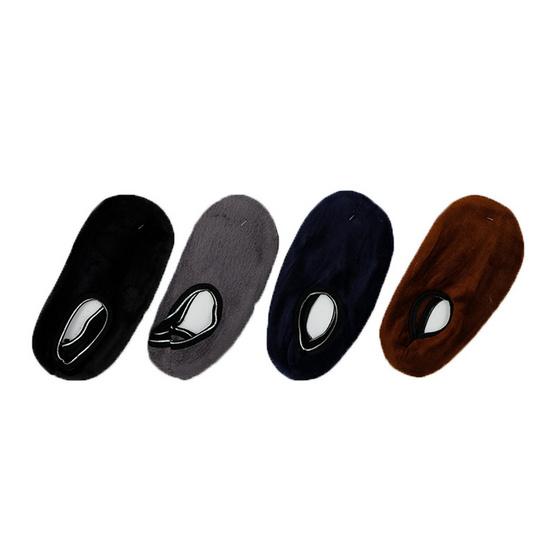 Annasocks ถุงเท้าใส่ในบ้าน รุ่น S271-1 เซ็ต 4 คู่ คละสีพื้น ผู้ชาย