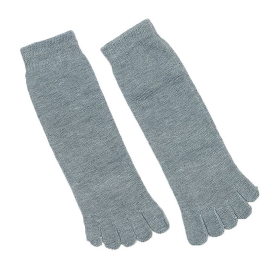 Annasocks ถุงเท้า 5 นิ้ว รุ่น S020 เซ็ต 4 คู่ คละสีพื้น ใส่ได้ทั้งชายและหญิง