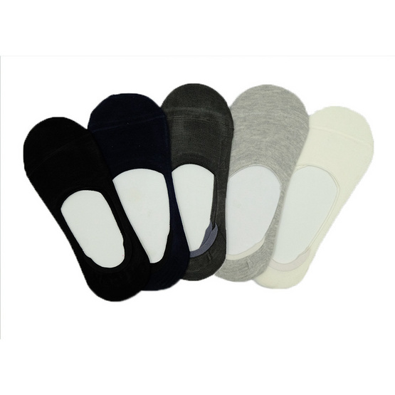 Annasocks ถุงเท้าคัทชู ไร้ขอบ รุ่น S267 เซ็ต 5 คุ่ คละสี male
