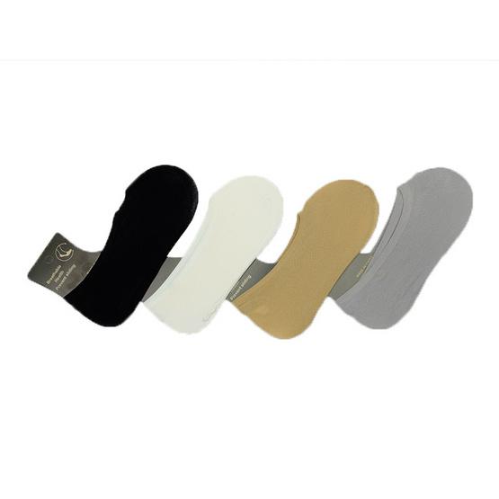 Annasocks ถุงเท้าคัทชู เนื้อถุงน่อง รุ่น S584 เซ็ต 4 คุ่ คละสี ผู้ชาย