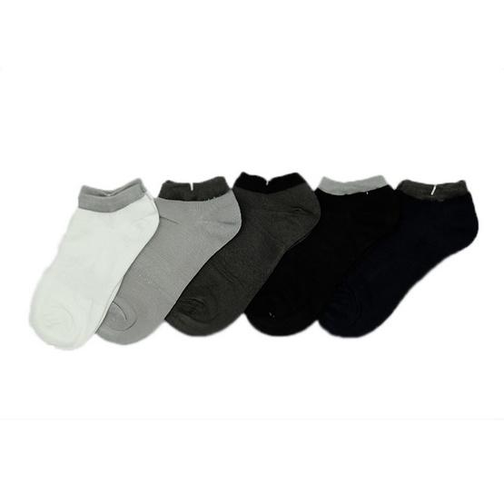 Annasocks ถุงเท้าซ่อน ข้อเว้าใต้ตาตุ่ม รุ่น P001 เซ็ต 5 คู่
