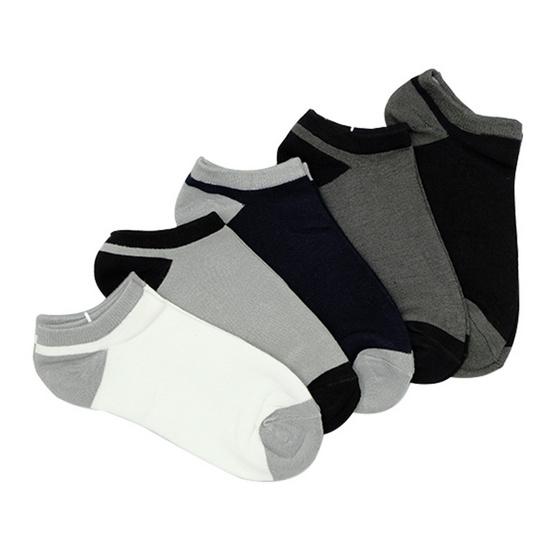 Annasocks ถุงเท้าซ่อน ข้อเว้าใต้ตาตุ่ม รุ่น S575 คละ5 สี เซ็ต 5 คู่