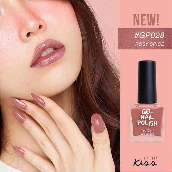 Malissa Kiss ยาทาเล็บเนื้อเจล NGP ROSY SPICE #28 ROSY SPICE PECAN SPARK