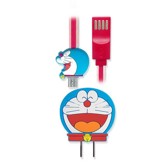 Asaki ชุดชาร์จอเนกประสงค์ Doraemon MicroUSB รุ่น A-DMC8201