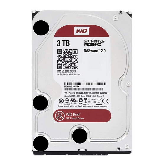 "WD Caviar Red 3.5"" HDD NAS SATA3(6Gb/s) 64MB 5400RPM 3 TB (WD30EFRX)"