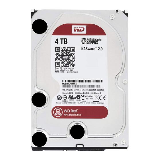 "WD Caviar Red 3.5"" HDD NAS SATA3(6Gb/s) 64MB 5400RPM 4 TB (WD40EFRX)"