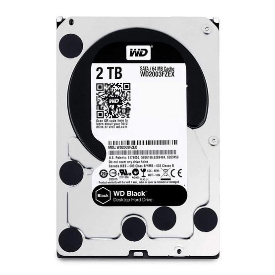 "WD Caviar Black 3.5"" HDD SATA3(6Gb/s) ADVANCED 64MB 7200RPM 2 TB (WD2003FZEX)"