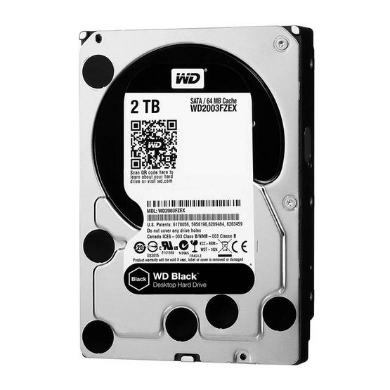 """WD Caviar Black 3.5"""" HDD SATA3(6Gb/s) ADVANCED 64MB 7200RPM 2 TB (WD2003FZEX)"""