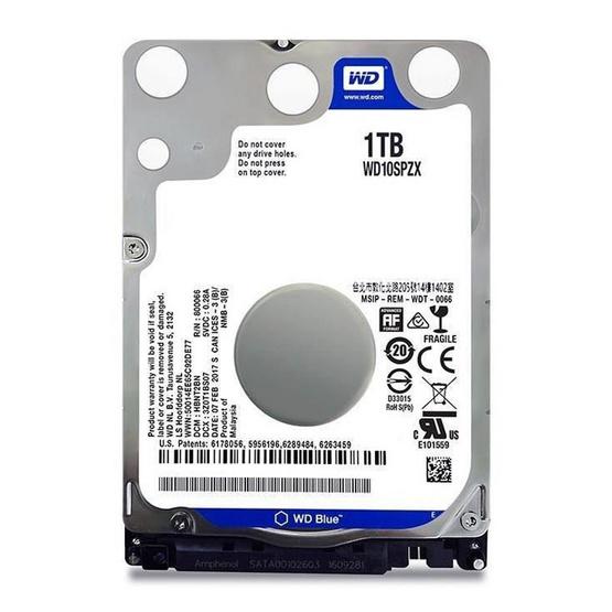 """WD Scorpio Blue 2.5"""" HDD SATA3(6Gb/s) 128MB 5400RPM 1 TB (WD10SPZX)"""