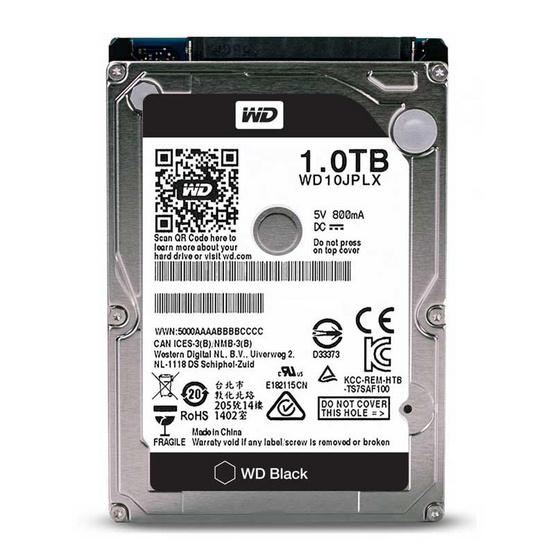 """WD Scorpio Black 2.5"""" HDD SATA3(6Gb/s) 32MB 7200RPM 1 TB (WD10JPLX)"""