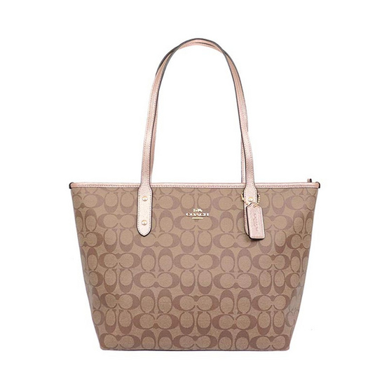 กระเป๋า COACH F39523 CITY ZIP TOTE IN SIGNATURE CANVAS (IMO5I) [MCF39523IMO5I]