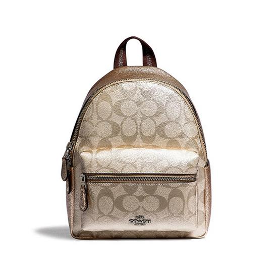 กระเป๋า COACH F39511 MINI CHARLIE BACKPACK IN SIGNATURE CANVAS (SVPL) [MCF39511SVPL]
