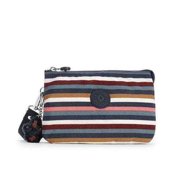 กระเป๋าคล้องมือ Kipling Creativity XL - Multi Stripes [MCK1515649G]