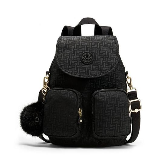 กระเป๋าเป้ Kipling Firefly UP - Black Pylon Emb [MCK2351247K]