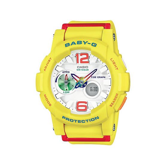 Baby-G นาฬิกาข้อมือผู้หญิง สายเรซิน รุ่น BGA-180-9BDR