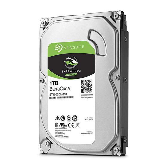 "Seagate BarraCuda Compute HDD 3.5"" 7200 RPM 64MB SATA 6GB/s (ST1000DM010) 1TB"