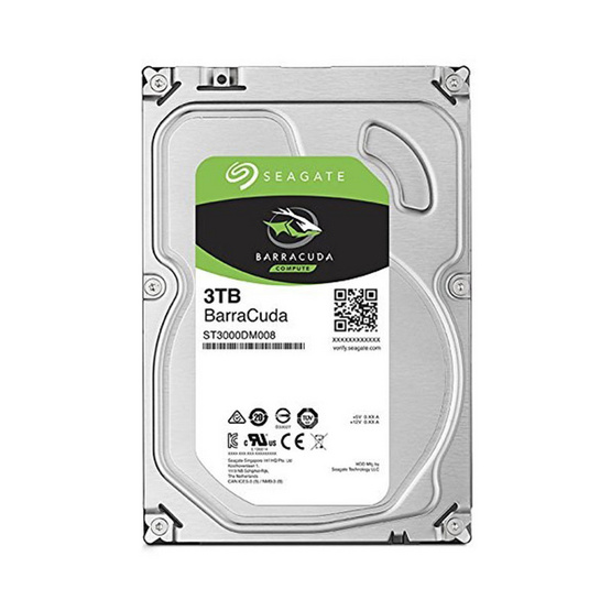 "Seagate BarraCuda Compute HDD 3.5"" 5400 RPM 256MB SATA 6GB/s (ST3000DM007) 3TB"