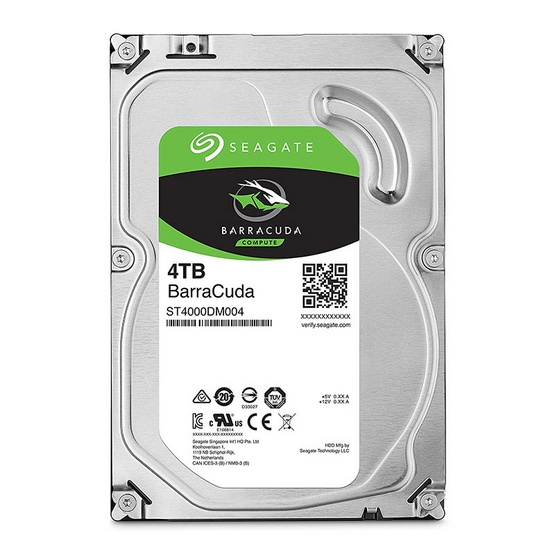 "Seagate BarraCuda Compute HDD 3.5"" 5400 RPM 256MB SATA 6GB/s (ST4000DM004) 4TB"