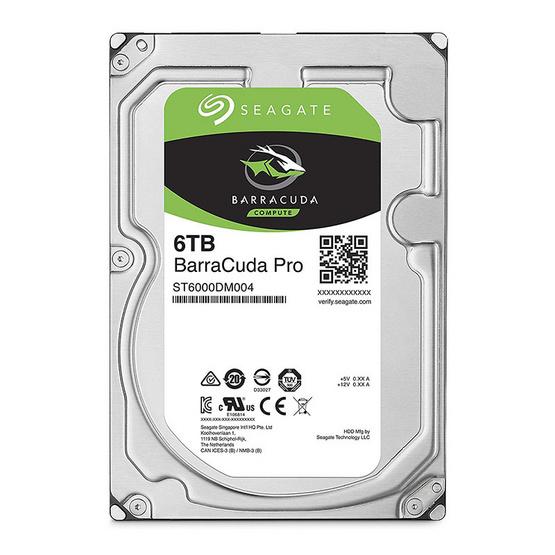 "Seagate BarraCuda Pro Compute HDD 3.5"" 7200 RPM 128MB SATA 6GB/s (ST6000DM004) 6TB"