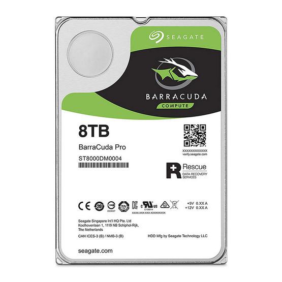 "Seagate BarraCuda Pro Compute HDD 3.5"" 7200 RPM 256MB SATA 6GB/s (ST8000DM0004) 8TB"