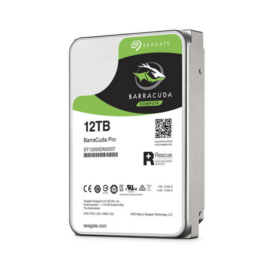 "Seagate BarraCuda Pro Compute HDD 3.5"" 7200 RPM 256MB SATA 6GB/s (ST12000DM0007) 12TB"