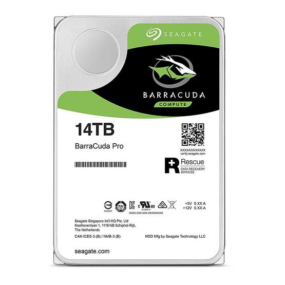 "Seagate BarraCuda Pro Compute HDD 3.5"" 7200 RPM 256MB SATA 6GB/s (ST14000DM001) 14TB"